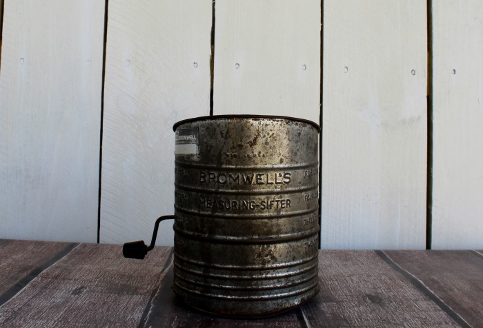 Antique Bromwell's flour sifter