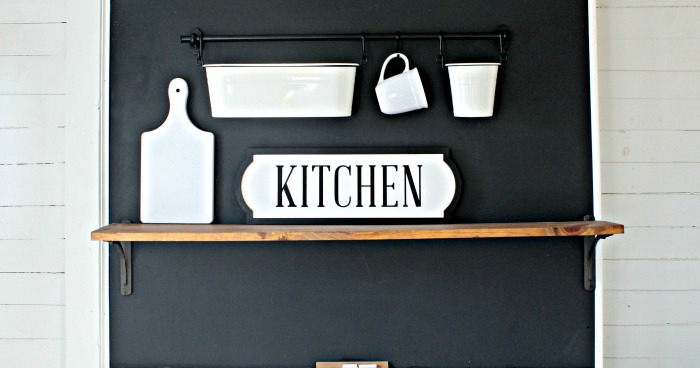 Chalk Couture Kitchen Sign on Odette Frame by Knick of Time