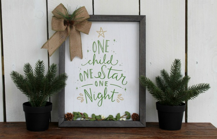 Chalk Couture One Star Box Frame sign