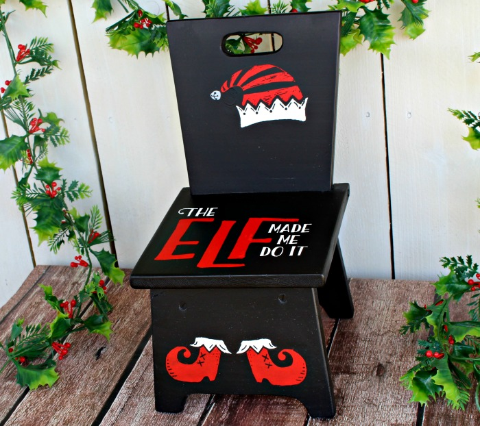Santa's Naughty List Christmas Elf Time Out Chair by Knick of Time