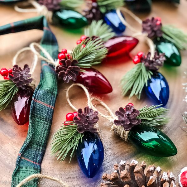 DIY Christmas Light Tree Ornament