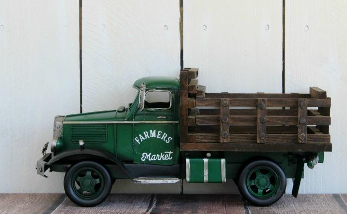 Green Metal Model Truck