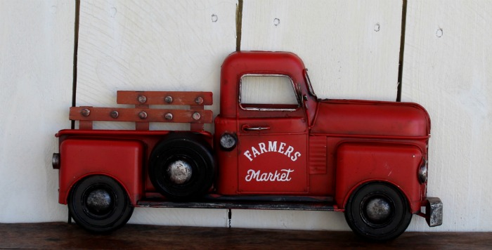 Hobby Lobby Red Metal Truck Wall Decor