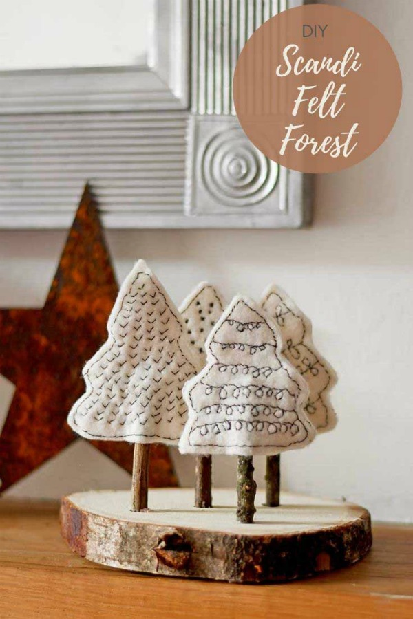 Scandi Forest Felt Christmas Craft