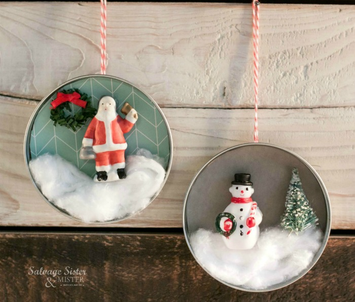Mason Jar Lid Ornament Craft
