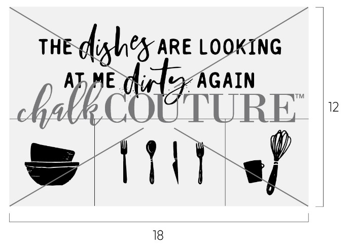 Chalk Couture Dirty Dishes