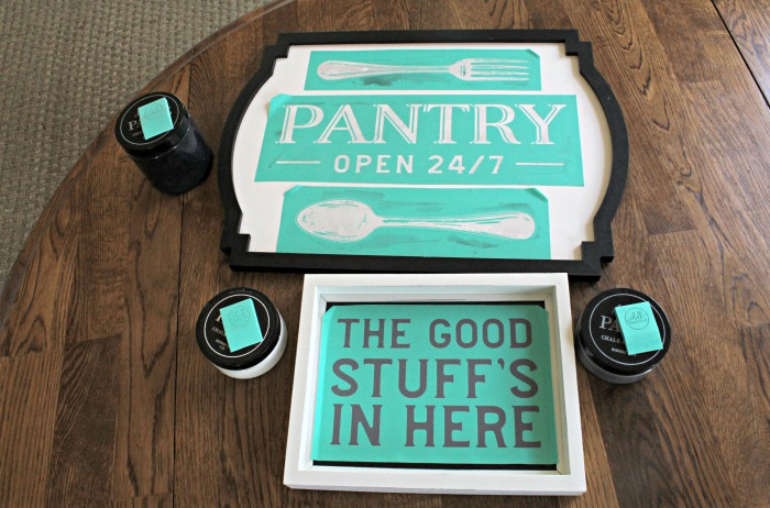 DIY Chalk Couture Pantry's Open signs Knick of Time