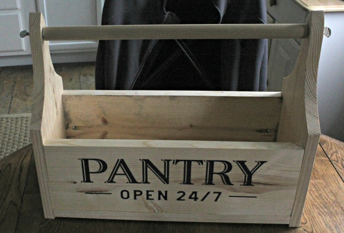DIY Kichen Caddy Wood Tote