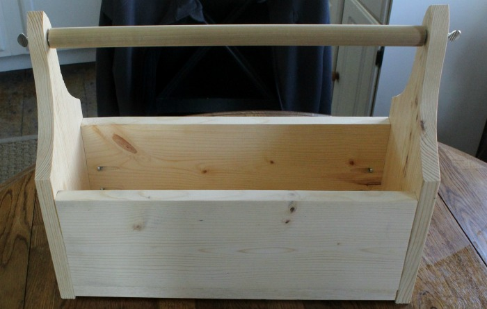 DIY Make Your Own Wood Unfinished Tool Box Tote