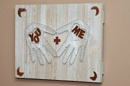 Heart In Hand String Art Valentines Gift Idea