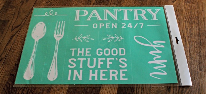 Pantry's Open Chalk Couture transfer available from Knick of Time