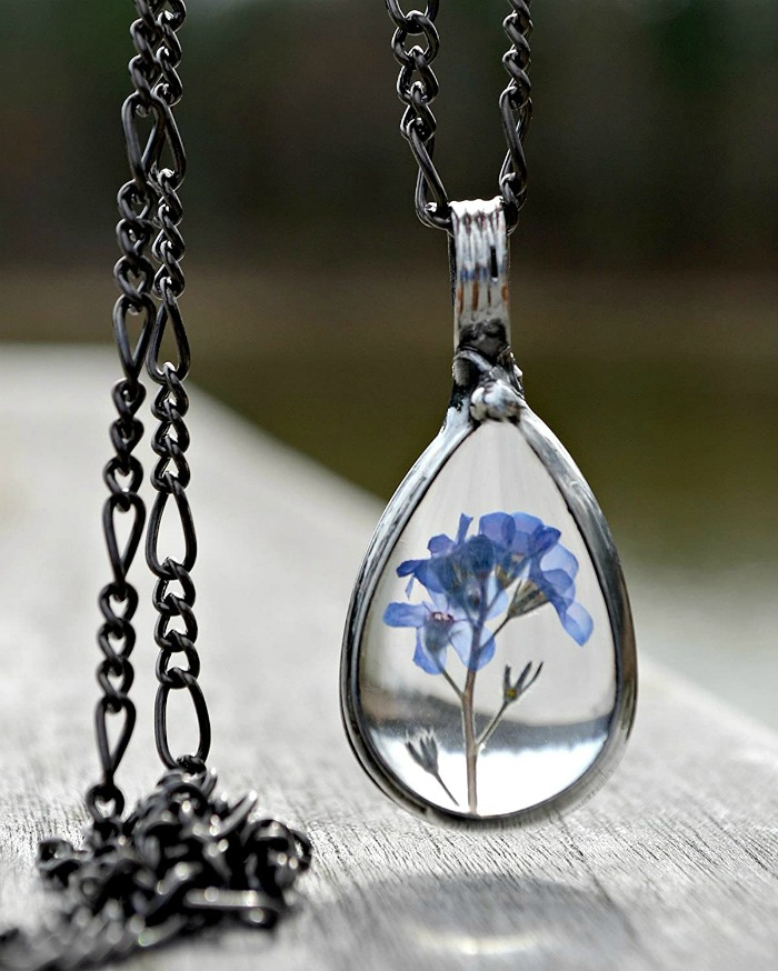 Forget Me Not pendant necklace