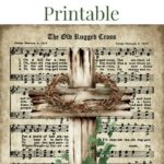 The Old Rugged Cross Watercolor Free Easter Printable