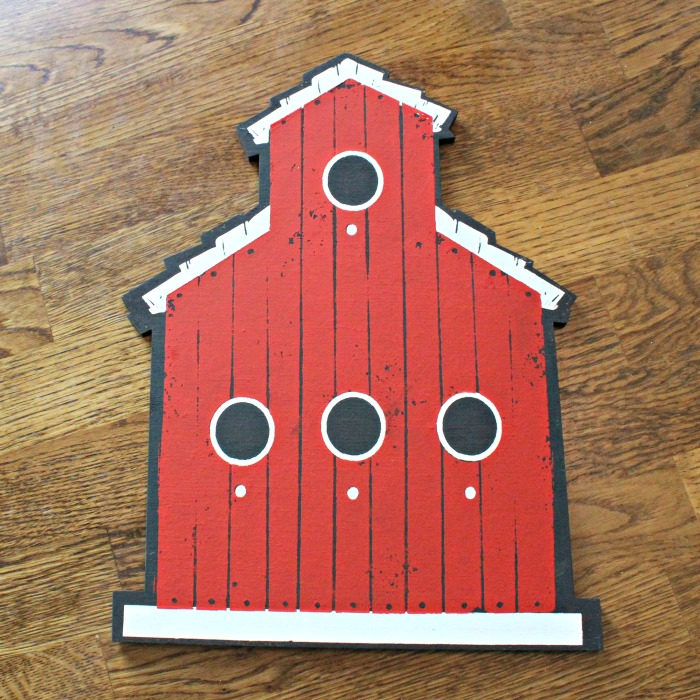 Chalk Couture Feathered Friends Collection—Rustic Red Schoolhouse Wood Shape Birdhouse