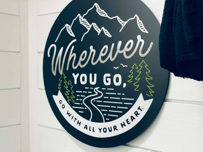 Go With All Your Heart Travel Decor