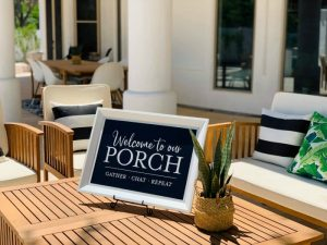 Welcome to Our Porch DIY Framed Sign