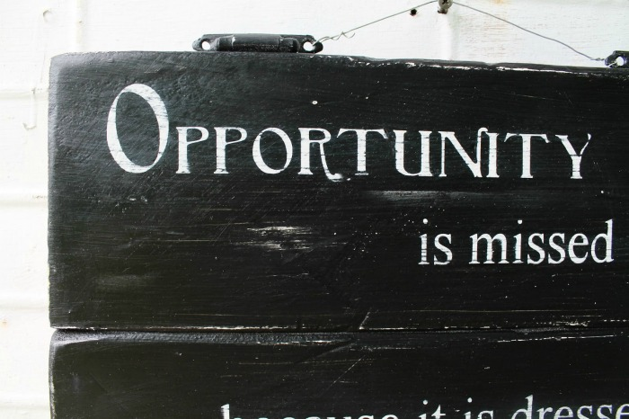 Opportunity Quote sign