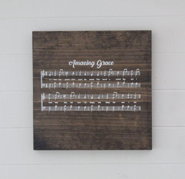 DIY Amazing Grace Wood Sign