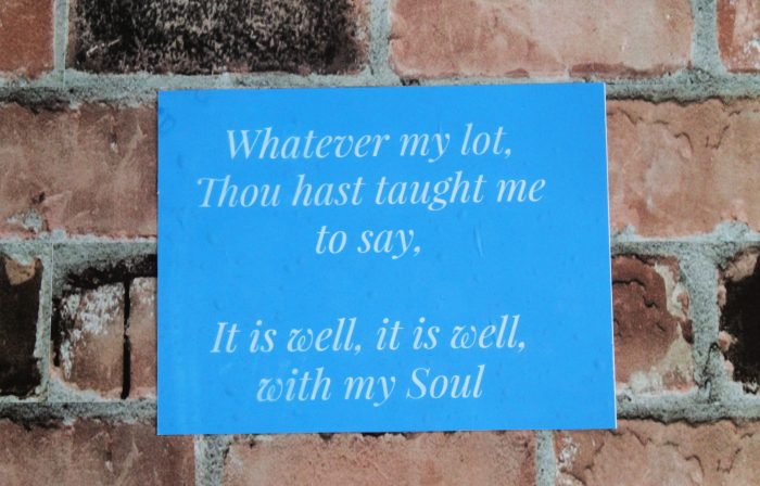 It Is Well with My Soul silkscreen stencil