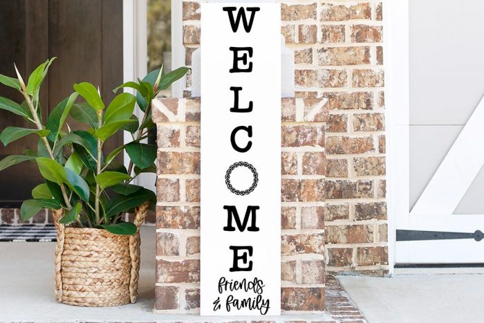 Welcome Friends and Family Vertical SVG